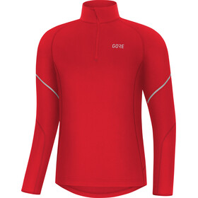 GORE WEAR M Mid Longsleeve met rits Heren, red